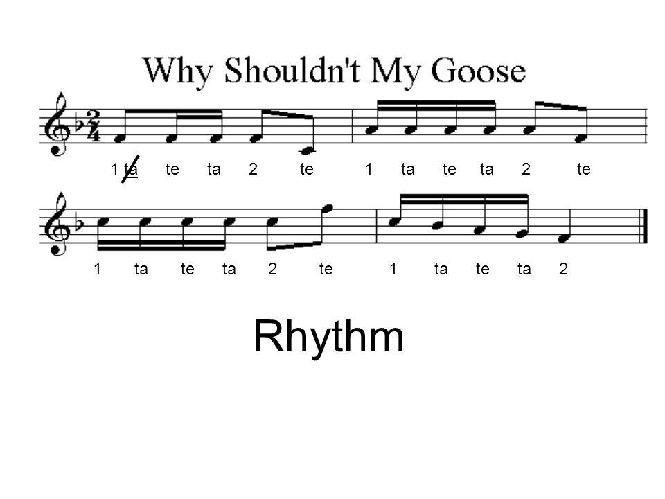 1 ta te ta 2 te 1 ta te ta 2 te 1 ta te ta 2 te 1 ta te ta 2 Rhythm