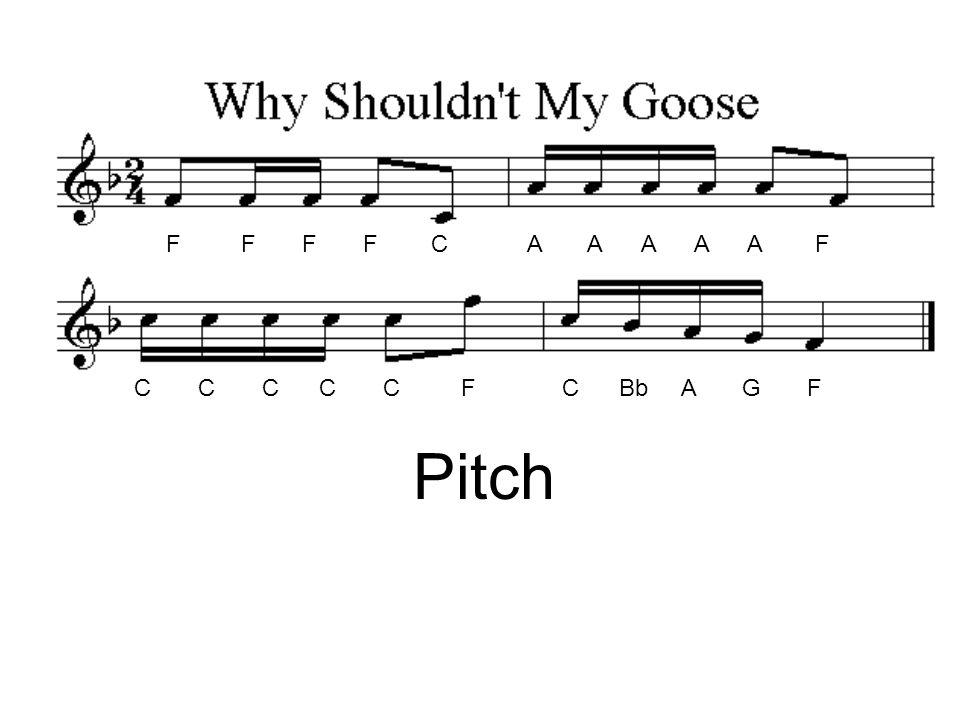 F F F F C A A A A A F C C C C C F C Bb A G F Pitch