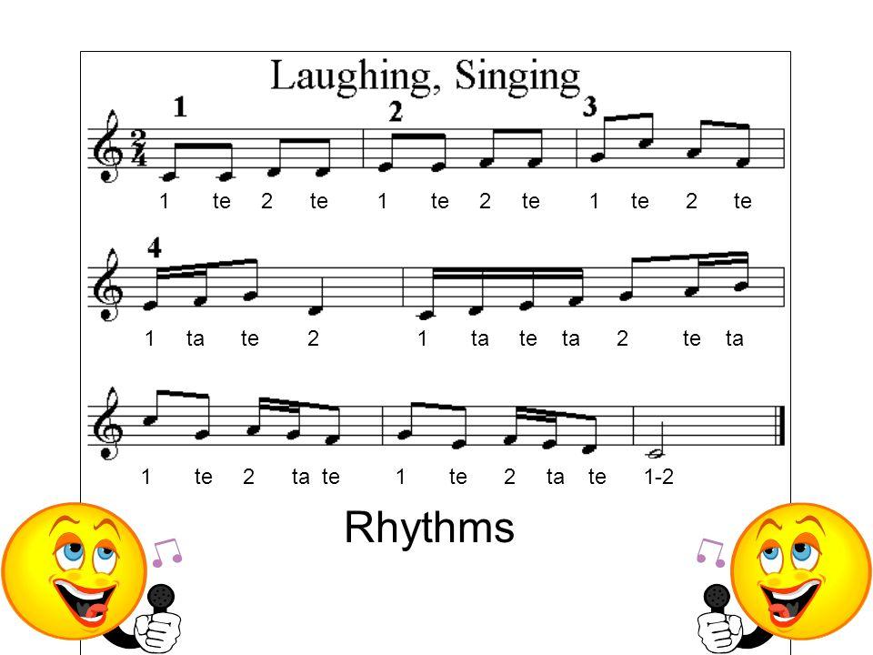 1 te 2 te 1 te 2 te 1 te 2 te 1 ta te 2 1 ta te ta 2 te ta 1 te 2 ta te 1 te 2 ta te 1-2 Rhythms