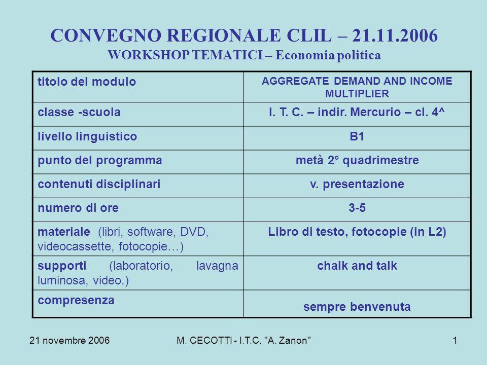 21 novembre 2006M. CECOTTI - I.T.C. A.