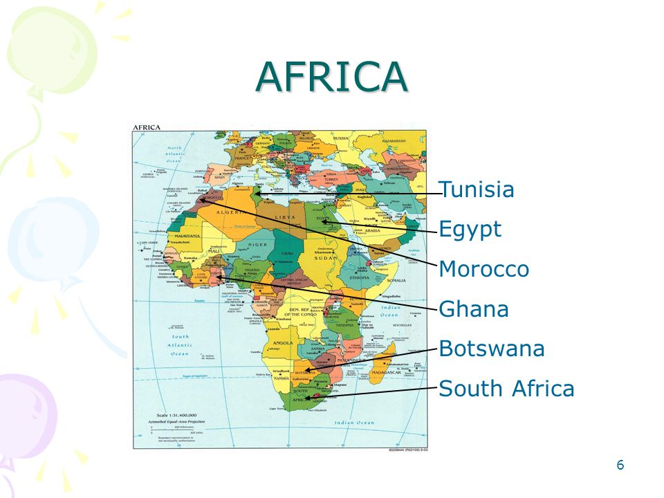 5 Countries participating in TIMSS-2003 Forty-six countries around the world participated in the TIMSS- 2003, with six of them from Africa. Those from
