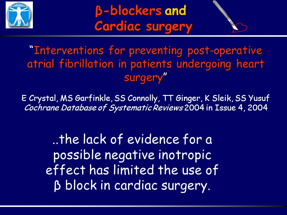 Interventions for preventing post-operative atrial fibrillation in patients undergoing heart surgeryInterventions for preventing post-operative atrial