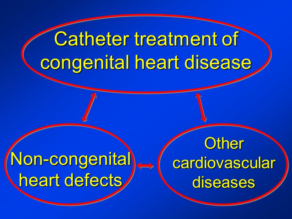Catheter treatment of congenital heart disease Non-congenital heart defects Other cardiovascular diseases