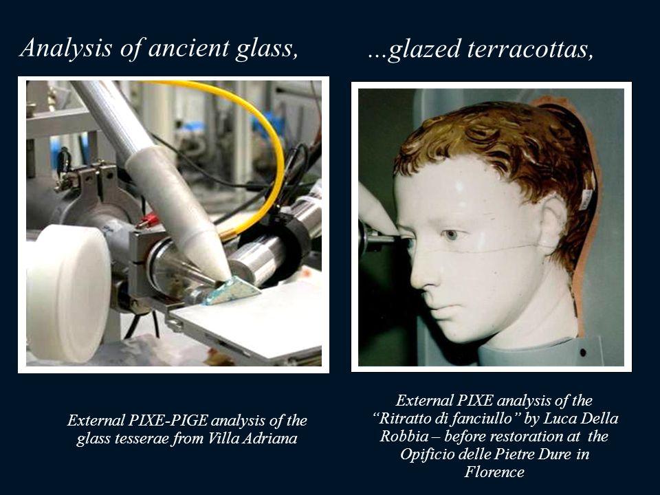 ...glazed terracottas, External PIXE analysis of the Ritratto di fanciullo by Luca Della Robbia – before restoration at the Opificio delle Pietre Dure