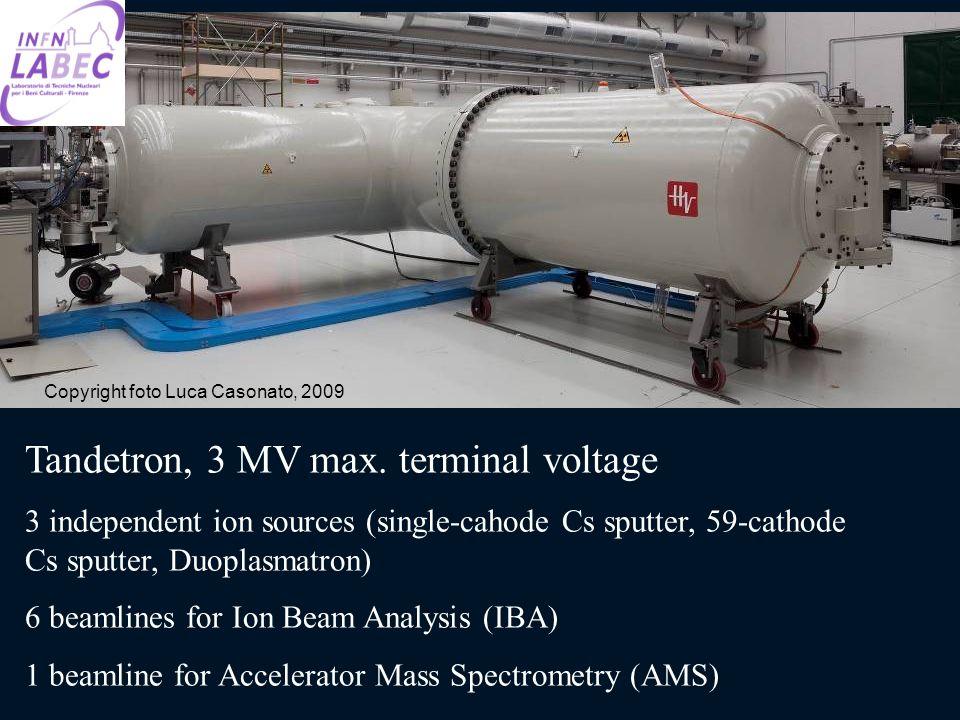 Tandetron, 3 MV max. terminal voltage 3 independent ion sources (single-cahode Cs sputter, 59-cathode Cs sputter, Duoplasmatron) 6 beamlines for Ion B