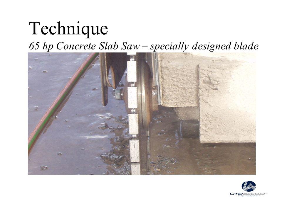 Technique 65 hp Concrete Slab Saw – specially designed blade