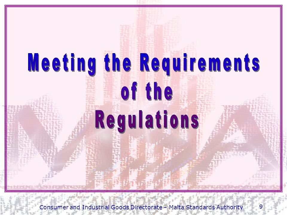 10 Summary of the main regulatory requirements Custom-made dental devices must satisfy the requirements set out in Schedule I to the regulations and shall not bear the CE marking.