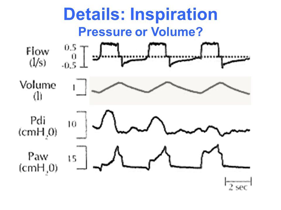 Details: Inspiration Pressure or Volume?