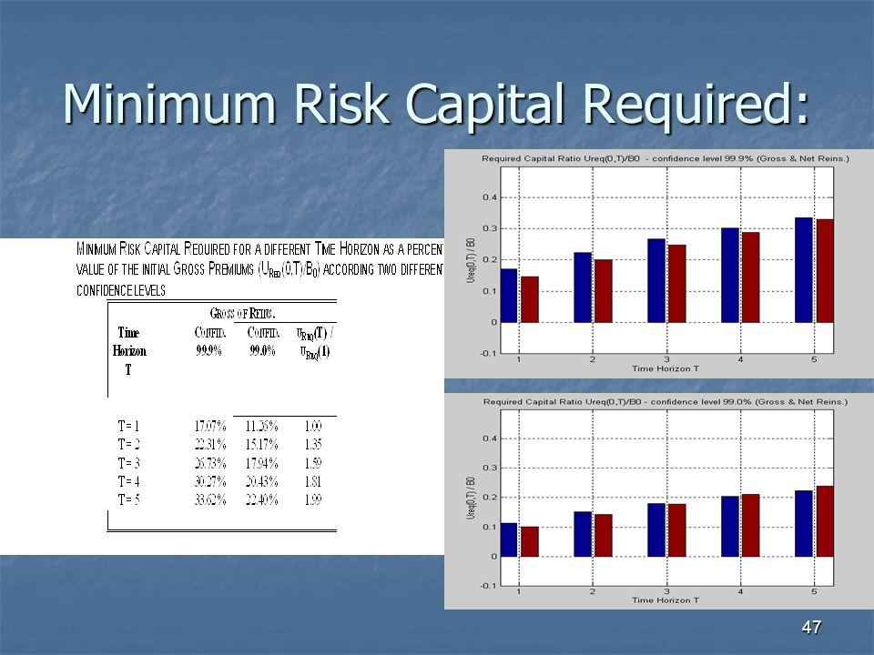 47 Minimum Risk Capital Required: