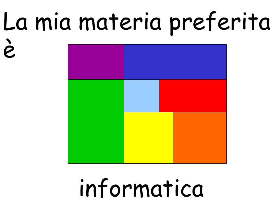 La mia materia preferita è informatica