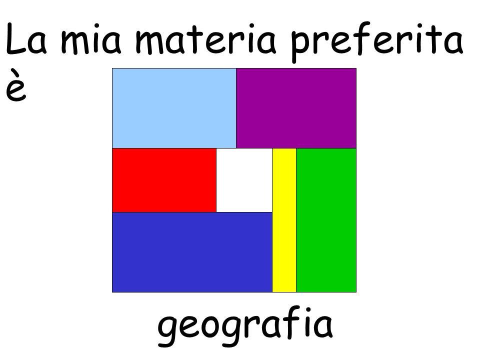 La mia materia preferita è geografia
