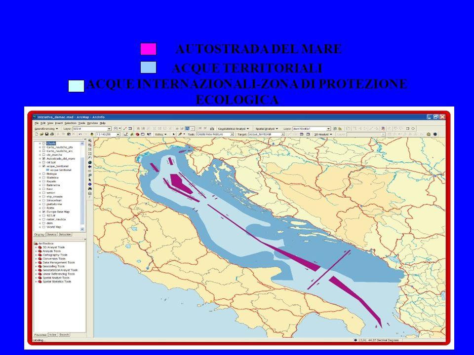AUTOSTRADA DEL MARE ACQUE TERRITORIALI ACQUE INTERNAZIONALI-ZONA DI PROTEZIONE ECOLOGICA