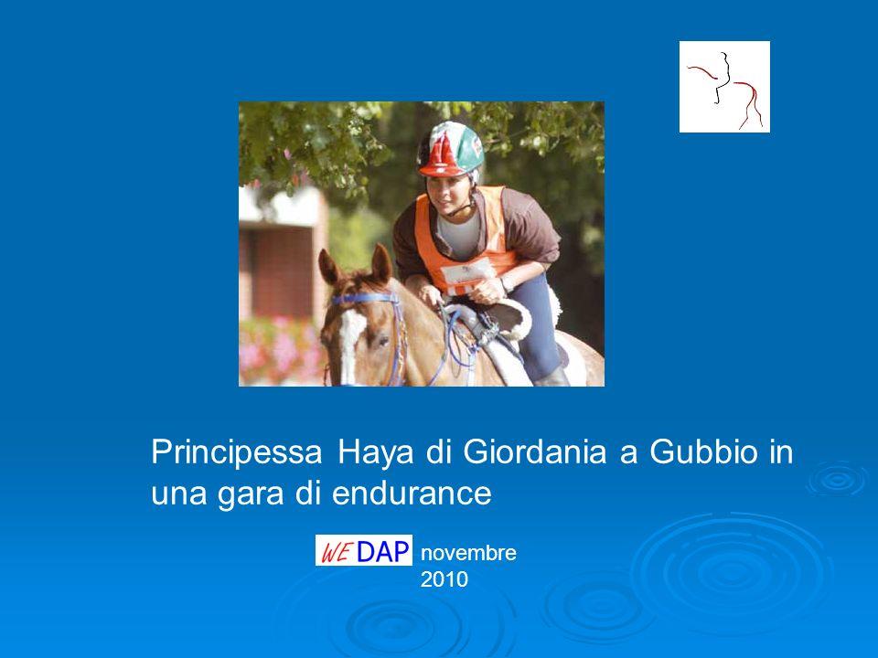 Principessa Haya di Giordania a Gubbio in una gara di endurance
