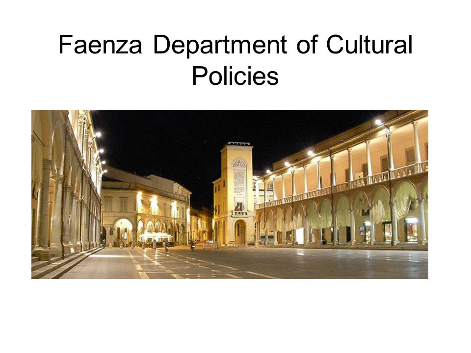 Faenza Department of Cultural Policies