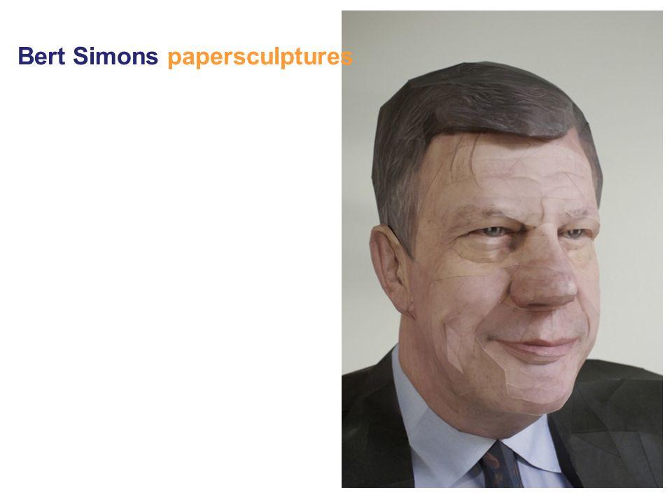 Bert Simons papersculptures
