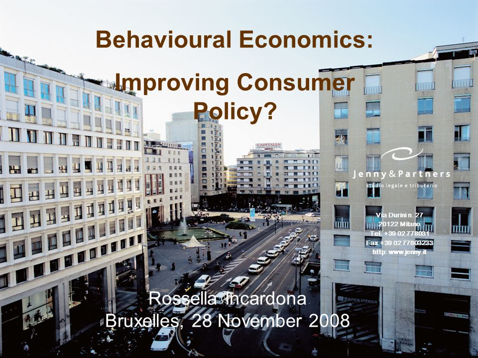 Behavioural Economics: Improving Consumer Policy.