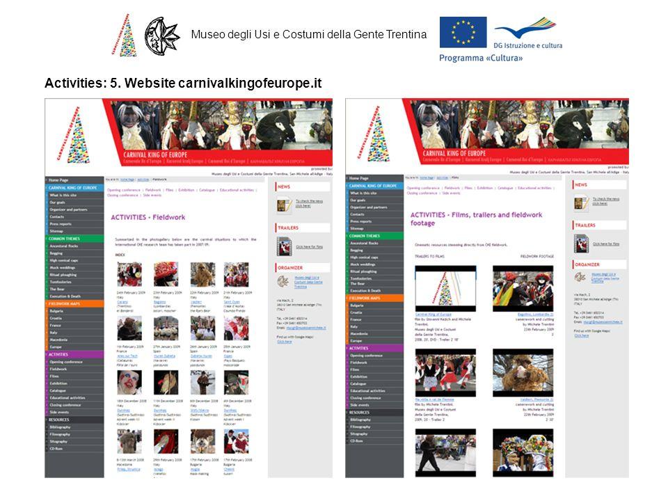 Museo degli Usi e Costumi della Gente Trentina Activities: 5. Website carnivalkingofeurope.it