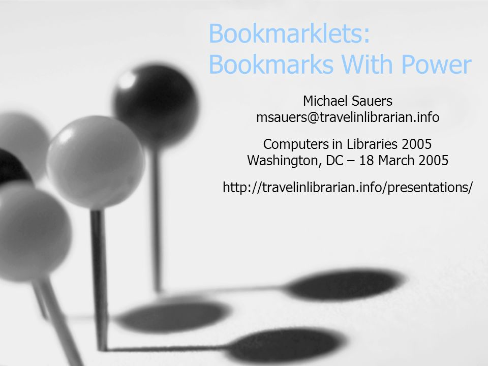 What is a bookmarklet.