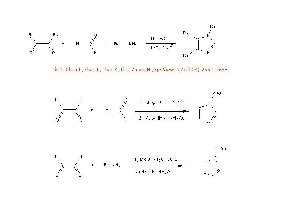 Liu J., Chen J., Zhao J., Zhao Y., Li L., Zhang H., Synthesis 17 (2003) 2661–2666.