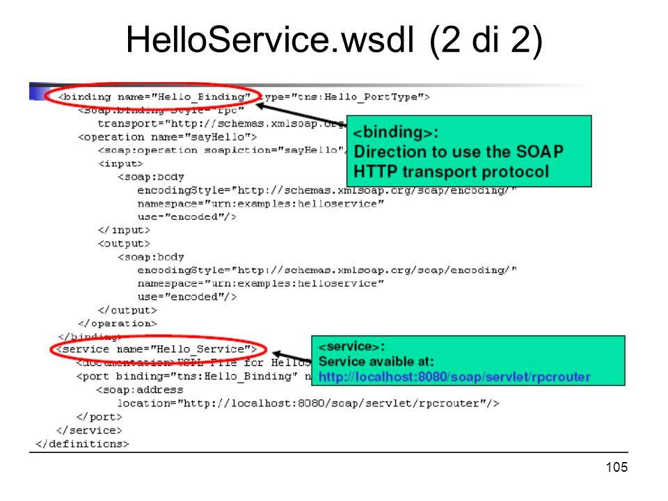 105 HelloService.wsdl (2 di 2)
