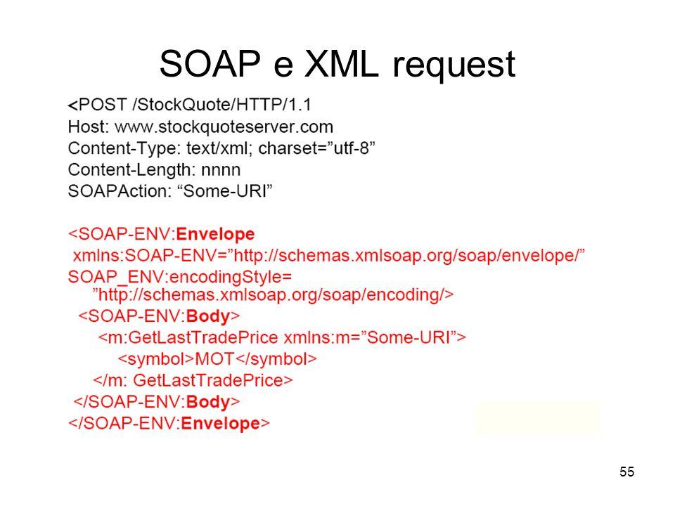 55 SOAP e XML request