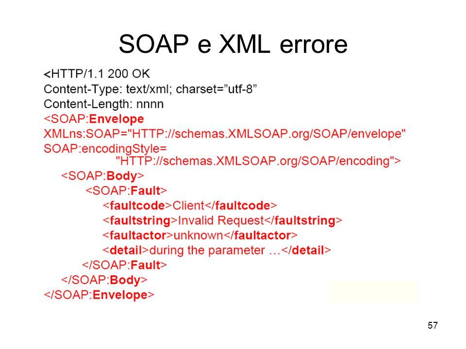 57 SOAP e XML errore