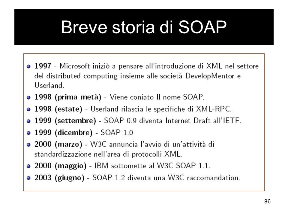 86 Breve storia di SOAP