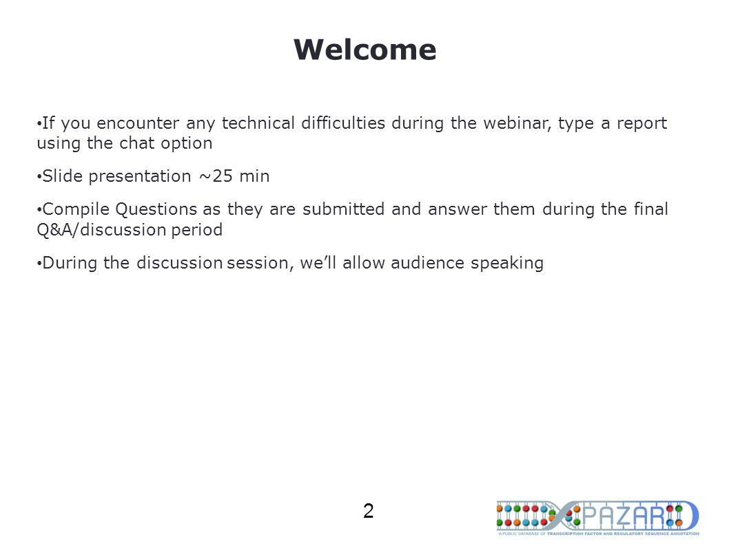 Topics PAZAR Overview Data Retrieval Through Web Interface Data Files and Formats PAZAR Application Programming Interface (API) Q&A 3