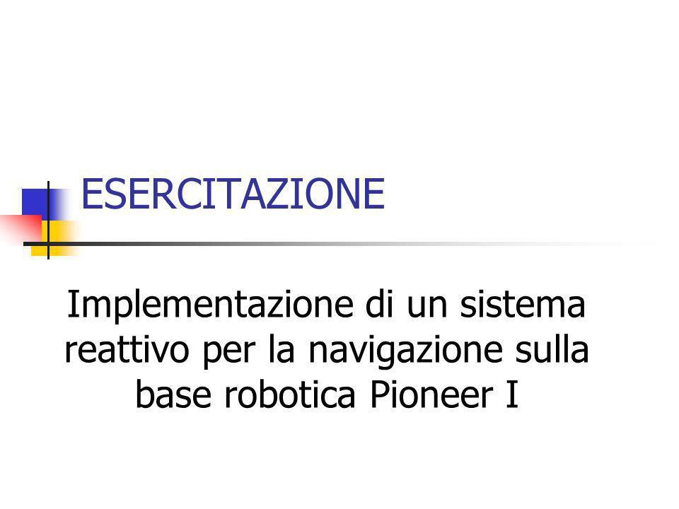 ESERCITAZIONE Implementazione di un sistema reattivo per la navigazione sulla base robotica Pioneer I