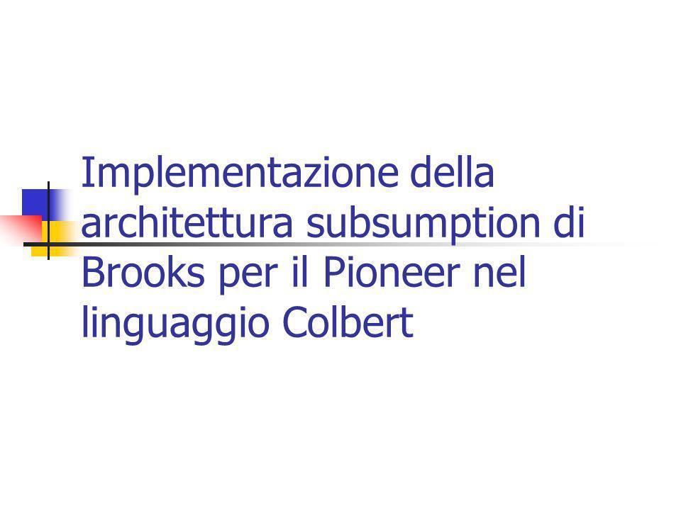 Implementazione della architettura subsumption di Brooks per il Pioneer nel linguaggio Colbert