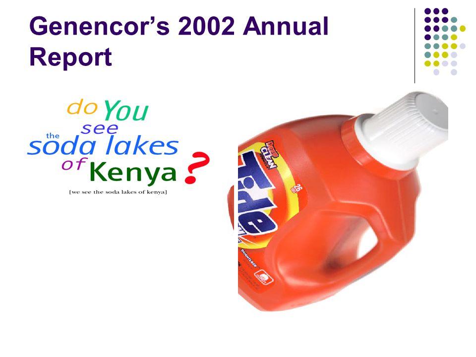 Genencors 2002 Annual Report