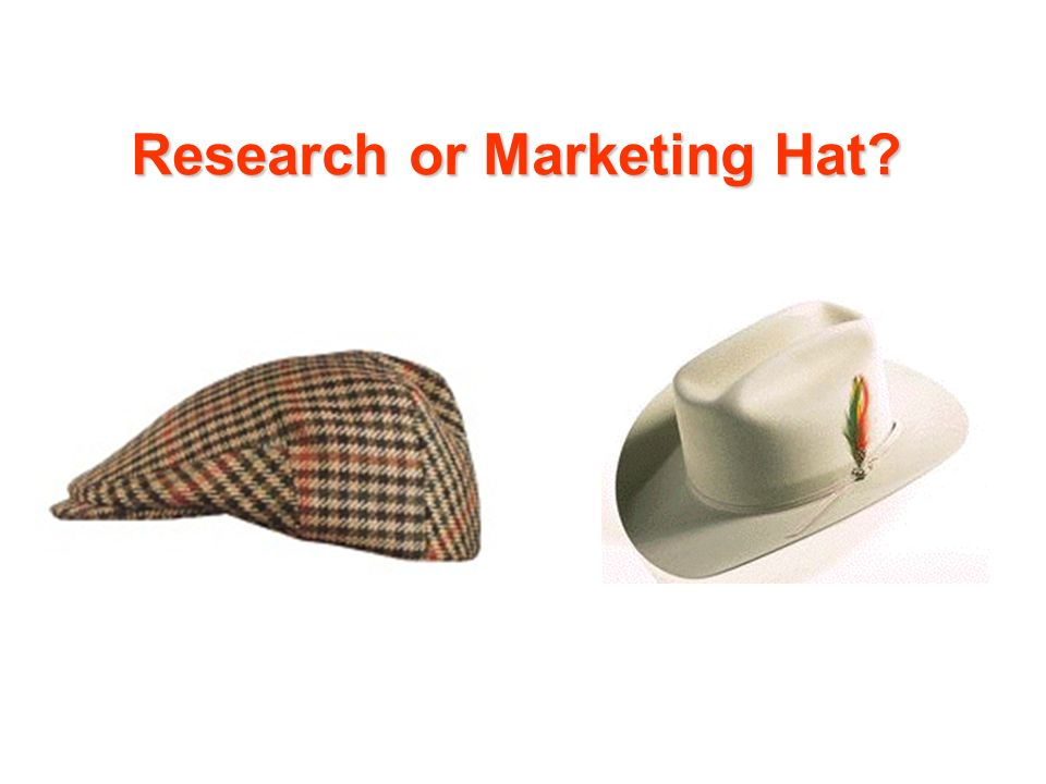 Research or Marketing Hat