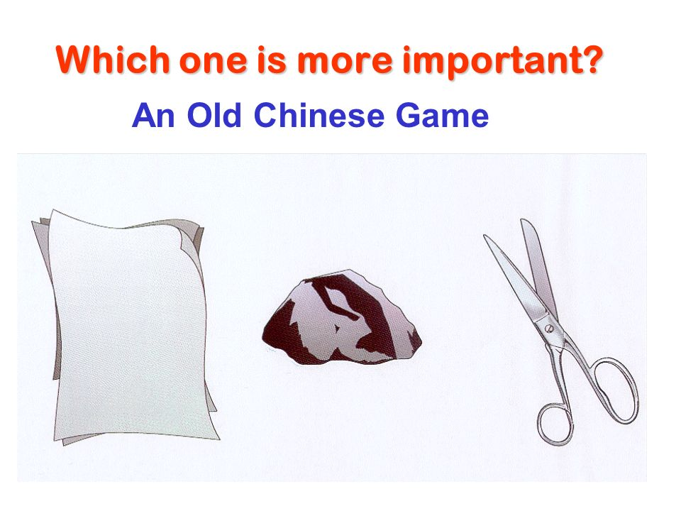 Which one is more important An Old Chinese Game
