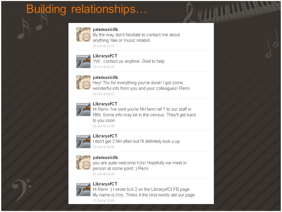 Building relationships…