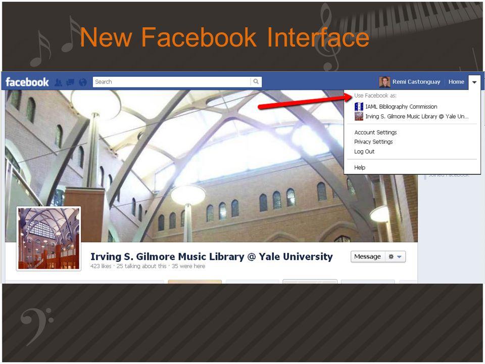 New Facebook Interface