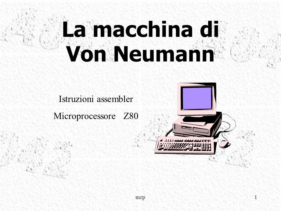 mcp1 La macchina di Von Neumann Istruzioni assembler Microprocessore Z80