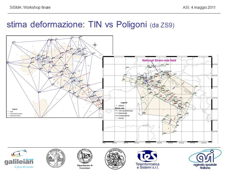 stima deformazione: TIN vs Poligoni (da ZS9)