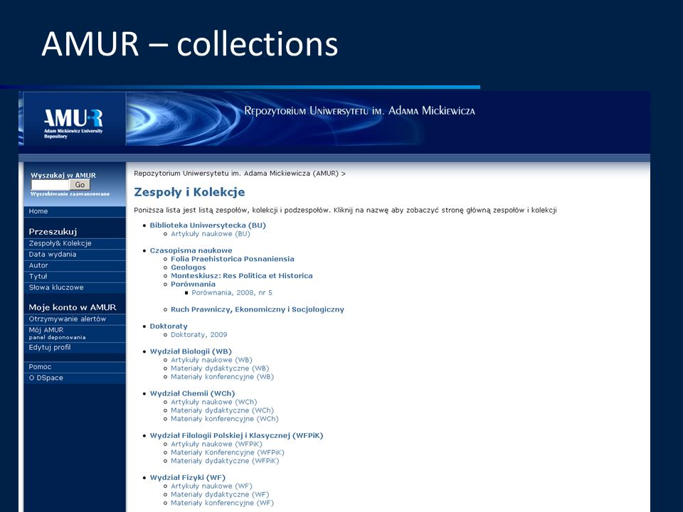 AMUR – collections