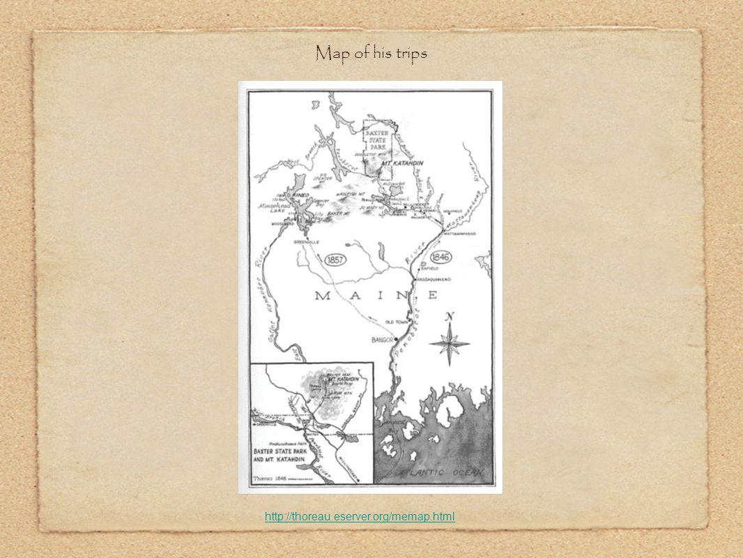 Map of his trips http://thoreau.eserver.org/memap.html