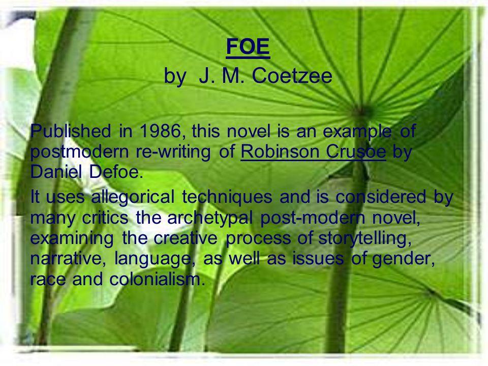 FOE by J. M.