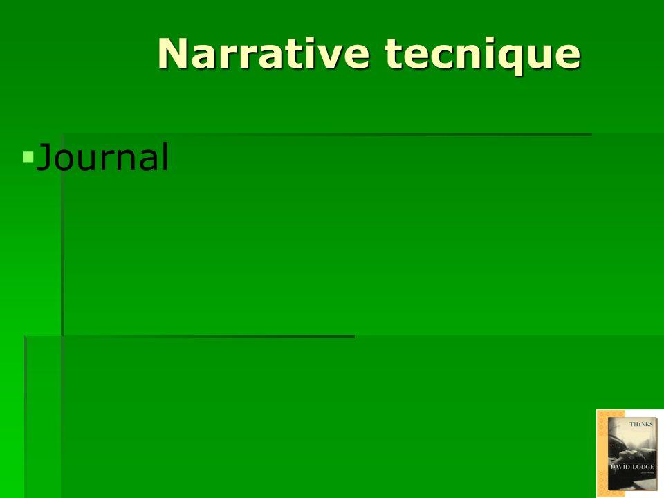 Narrative tecnique Journal