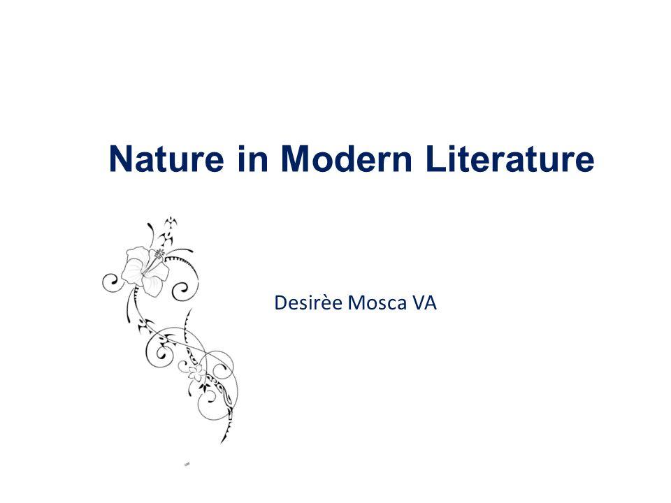 Desirèe Mosca VA Nature in Modern Literature