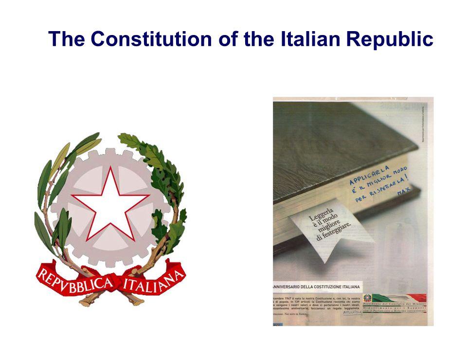The Constitution of the Italian Republic