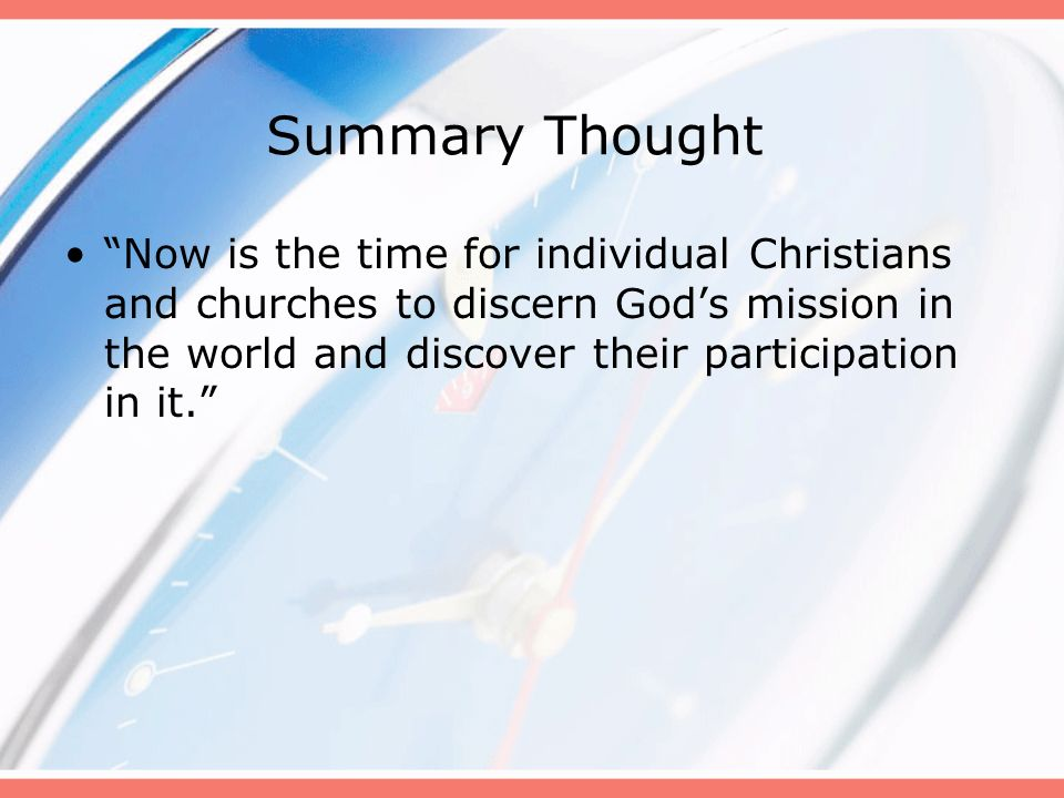 Session 2 Its Time… For Spiritual Formation
