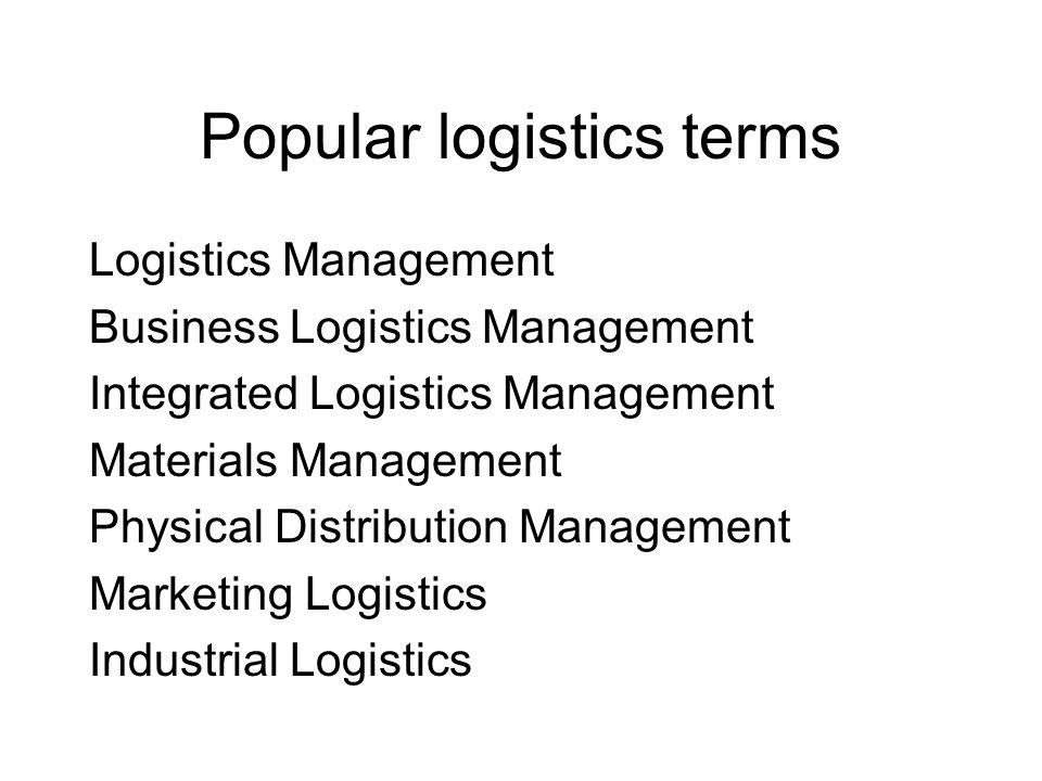 Civil logistics fields Logistica industriale (business logistics) Logistica delle rinfuse (bulk logistics) Logistica del progetto (project logistics) Logistica dei Sistemi Riparabili ( RAM logistics) Logistica degli eventi (Event logistics) Logistica dei servizi (Service Logistics)