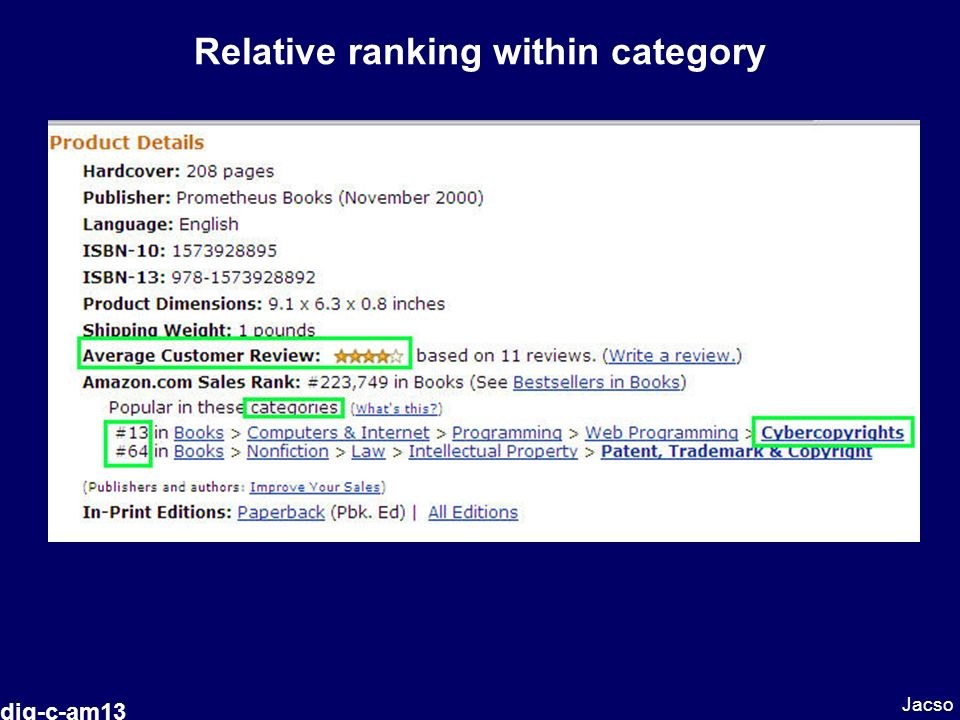 Relative ranking within category Jacso dig-c-am13
