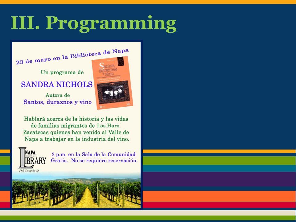 III. Programming