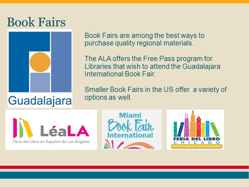 Book Fairs Book Fairs are among the best ways to purchase quality regional materials.