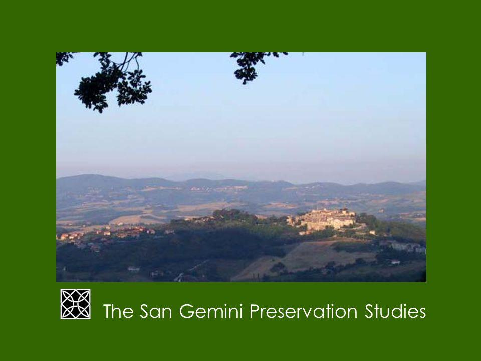 The San Gemini Preservation Studies