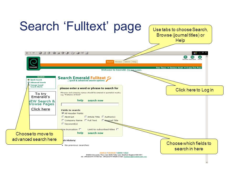 Searching continued… Your search history (i.e.
